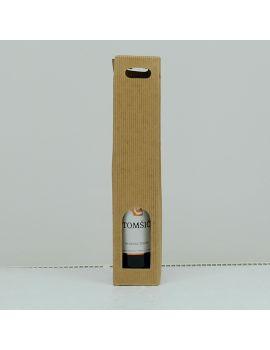 Kutija za 1 butelju rebrasta